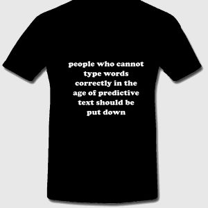Predictive texting t-shirt