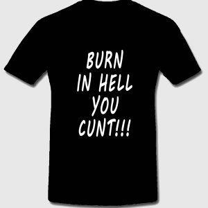 Burn In Hell t-shirt