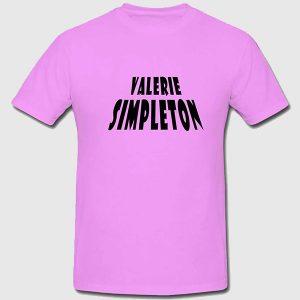 Valerie Simpleton t-shirt