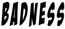 badness logo